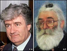Radovan Karadzic when in power and after being captured
