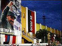 Raúl Castro el 26 de julio en el cuartel Moncada