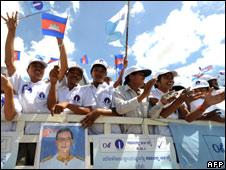 Sam Rainsy Party campaign rally