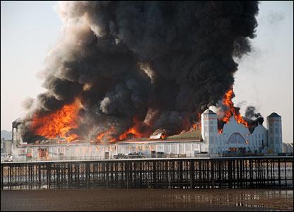 Weston Pier Fire