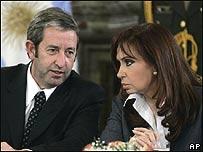 Julio Cobos y Cristina Fernández de Kirchner, AP