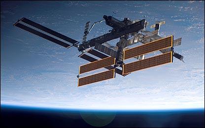 Estación Espacial Internacional en órbita