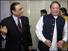 Asif Zardari and Nawaz Sharif met on 5 August 2008