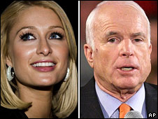 Paris Hilton and John McCain