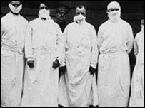 UK doctors, army officers, and reporters during the 1918 outbreak