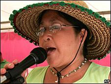 Margarita Mbywangi in Asuncion in March 2008