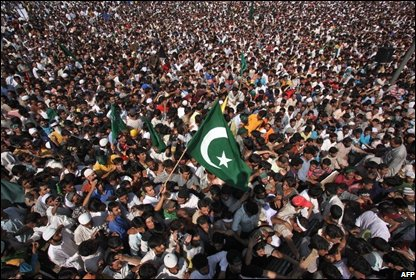 Muslims protest in Srinagar 22 August