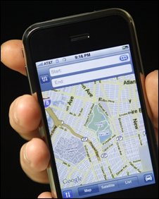 iPhone with Googlemaps
