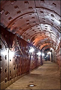 Corridor inside the bunker
