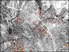 One of the satellite images (Courtesy of Human Rights Watch)