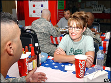 Sarah Palin visits troops in Kuwait (24 July 2007)