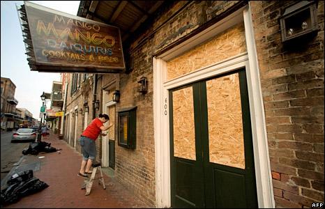 New Orleans evakuation i bilder