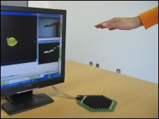 Ultrasound to give feel to games