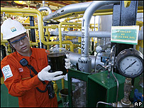 Trabajadora petrolera