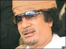 Libyan leader Muammar Gaddafi  (file image)