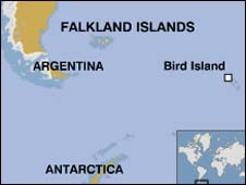 Map of Bird Island