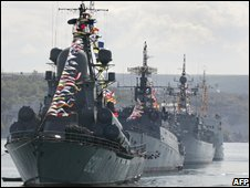 Russian navy ships in Sevastopol