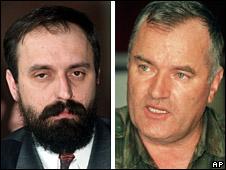 Goran Hadzic and Ratko Mladic (file)