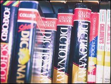 English dictionaries (file image)