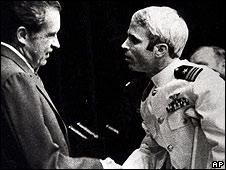 Richard Nixon meets John McCain in 1973