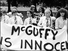 Grange Hill pupils protesting