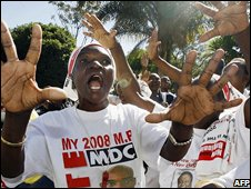MDC supporters in Harare