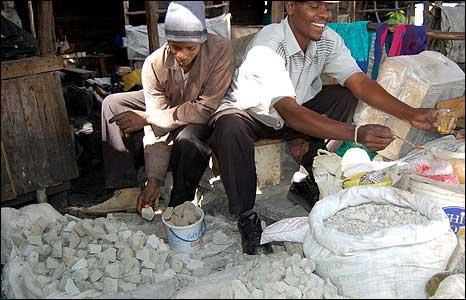 Stones on sale in Kenya market
