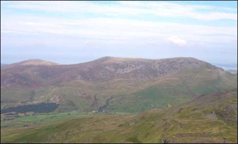 Snowdonia including Mynydd Graig Goch  on the left