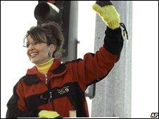 Sarah Palin campaigning, AP