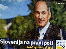 Election poster for  Janez Jansa's Slovene Democratic Party