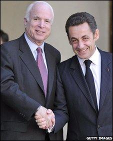 mccain sarkozy shake hands