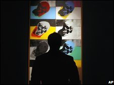 The Skulls painting is made up of 10 canvases