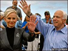 John and Cindy McCain in Florida, 23 Oct