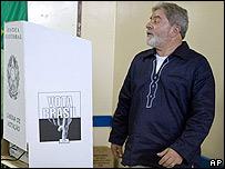 El presidente de Brasil, Luiz Inácio Lula da Silva, el 26 de octubre