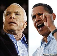 John McCain and Barack Obama