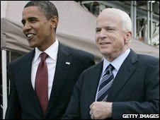 Barack Obama and John McCain