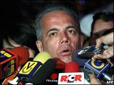 Manuel Rosales on 8 November in Caracas