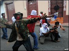 Post-electoral violence in Nicaragua on 16 November