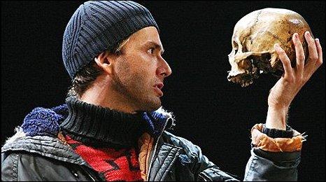 David Tennant in the Royal Shakespeare Company's Hamlet