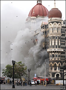 The terrorists held out for three days at the Taj Mahal Hotel