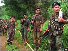 Communist rebels in the Philippines (file pic)