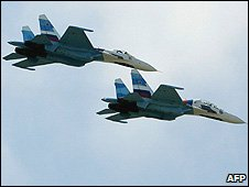 Two Russian Mig-29 fighter jets (file image)
