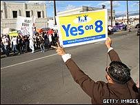 Manifestación contra las bodas gays