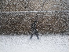 A person in Friday's snowstorm in Toronto 19/12/2008