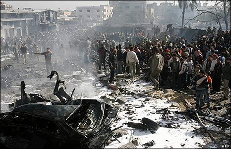 ग़ाज़ा पर इस्राइली बामबारी, सा�ार बीबीसी
