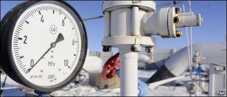 Gas pressure guage showing zero