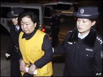 Tian Wenhua a su llegada a la corte