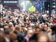 Shoppers in London's Oxford Street
