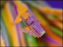 Cable de conexión a internet.