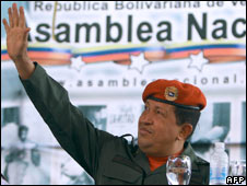 Venezuelan President Hugo Chavez. Photo: 28/02/09